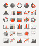 Graphic business ratings and charts Royalty Free Stock Image