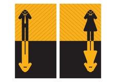 Graphic businessmen and businesswomen Stock Photos