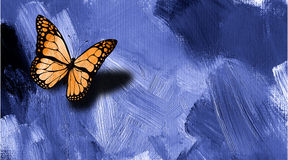 Graphic butterfly with texture background Stock Images