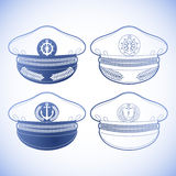 Graphic captain cap Royalty Free Stock Photography