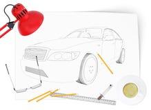 Graphic car model Royalty Free Stock Photos