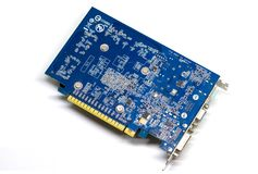 Video Card on a White Background, PC Hardware Royalty Free Stock Images