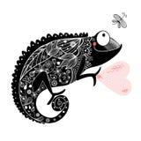 Graphic chameleon Stock Photography