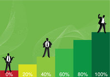 Graphic chart. Cool graphic chart for business use Stock Photography