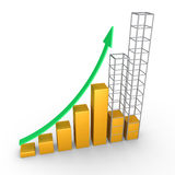 Graphic chart construction Royalty Free Stock Image