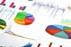 Graphic charts Stock Photo