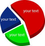 Graphic charts. Graphic pie charts, just add your text Royalty Free Stock Photography
