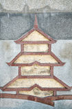 Graphic Chinese pagoda Royalty Free Stock Photos