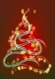 Graphic christmas tree Royalty Free Stock Images