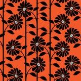 Graphic chrysanthemum of seamless pattern Royalty Free Stock Photography