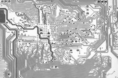 Graphic circuit board background in hi-tech style Stock Photo