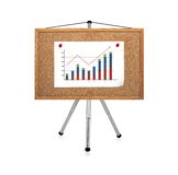 Graphic clip to cork board Stock Photography