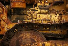 Detail of Old Rusted Gears and Machinery. A graphic and closeup look at some old dilapidated industrial machinery stock photography