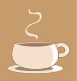 Graphic Coffee Cup Royalty Free Stock Images