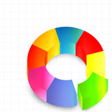 Graphic colorful round Stock Image