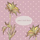 Graphic colorfull flowers hand drawn polka dot. Graphic colorfull flowers hand drawn with polka dot Royalty Free Stock Photography
