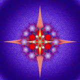 Graphic composition with use of stars, pentagons Royalty Free Stock Photography
