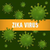 Graphic concept outbreak of new virus Zika. Royalty Free Stock Photography