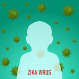 Graphic concept outbreak of new virus Zika. Graphic concept outbreak of new virus Zika Stock Photography
