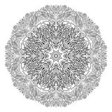 Graphic coral circle ornament Stock Photography