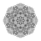 Graphic coral circle ornament Stock Photo