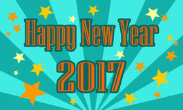 Graphic cover Happy New Year 2017  Royalty Free Stock Image