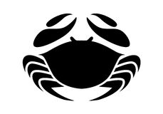 Graphic crab, vector. Illustration black crab on white background, vector Royalty Free Stock Photos