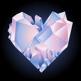 Graphic crystal heart Stock Photo