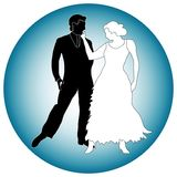 Graphic of dance partners. Graphic of man and woman as dance partners Stock Images