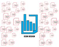 Graphic data icon design vector perfect simple royalty free illustration