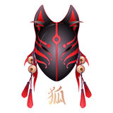 Graphic deamon fox mask Royalty Free Stock Photo