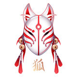 Graphic deamon fox mask Stock Images