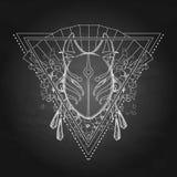 Graphic deamon fox mask Stock Photo