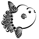 Ocean sunfish vector illustration. Graphic decorative vector illustration of ocean sunfish Royalty Free Stock Images