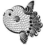 Ocean sunfish vector illustration. Graphic decorative vector illustration of ocean sunfish Stock Photos