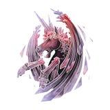 Graphic demonic unicorn Royalty Free Stock Image