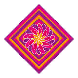 Graphic Design. A colorful graphic icon with flower like design royalty free illustration