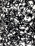 Graphic design. Black and white graphic design geometric vibrant background stock illustration