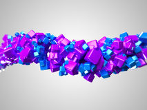 Graphic design. 3d rendered illustration of some floating cubes Royalty Free Stock Image