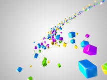 Graphic design. 3d rendered illustration of some floating cubes vector illustration