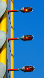 Graphic Design. With pipes and lights royalty free stock photo