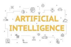 Graphic design of artificial intelligence vector illustration