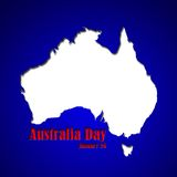 Graphic design Australia Day related in shape of continent Stock Photo