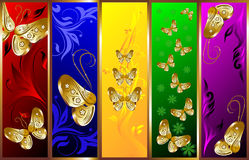 Graphic design background. Color graphic design background with butterflies Royalty Free Stock Photos