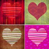 Graphic design background composition with hearts Stock Photos