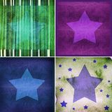 Graphic design background composition with stars Stock Image
