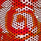 Graphic design background with hypnotic circles Royalty Free Stock Image