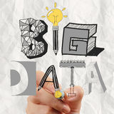 Graphic design BIG DATA word as concept Royalty Free Stock Photography