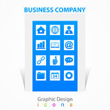 Graphic design business company icons signs Royalty Free Stock Photos