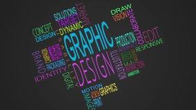 Graphic design buzzwords montage stock video